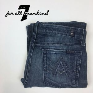 7 For All Mankind 'A' Pocket Flare Faded Jeans, 27